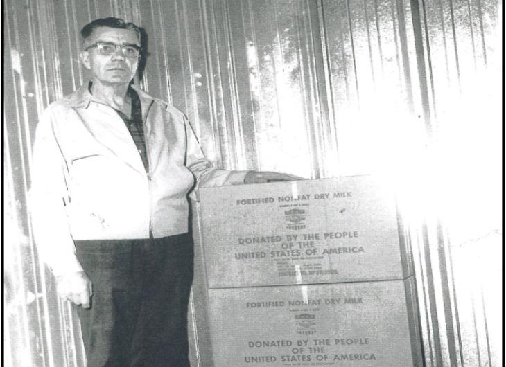 1965 - Cartons of Powdered milk